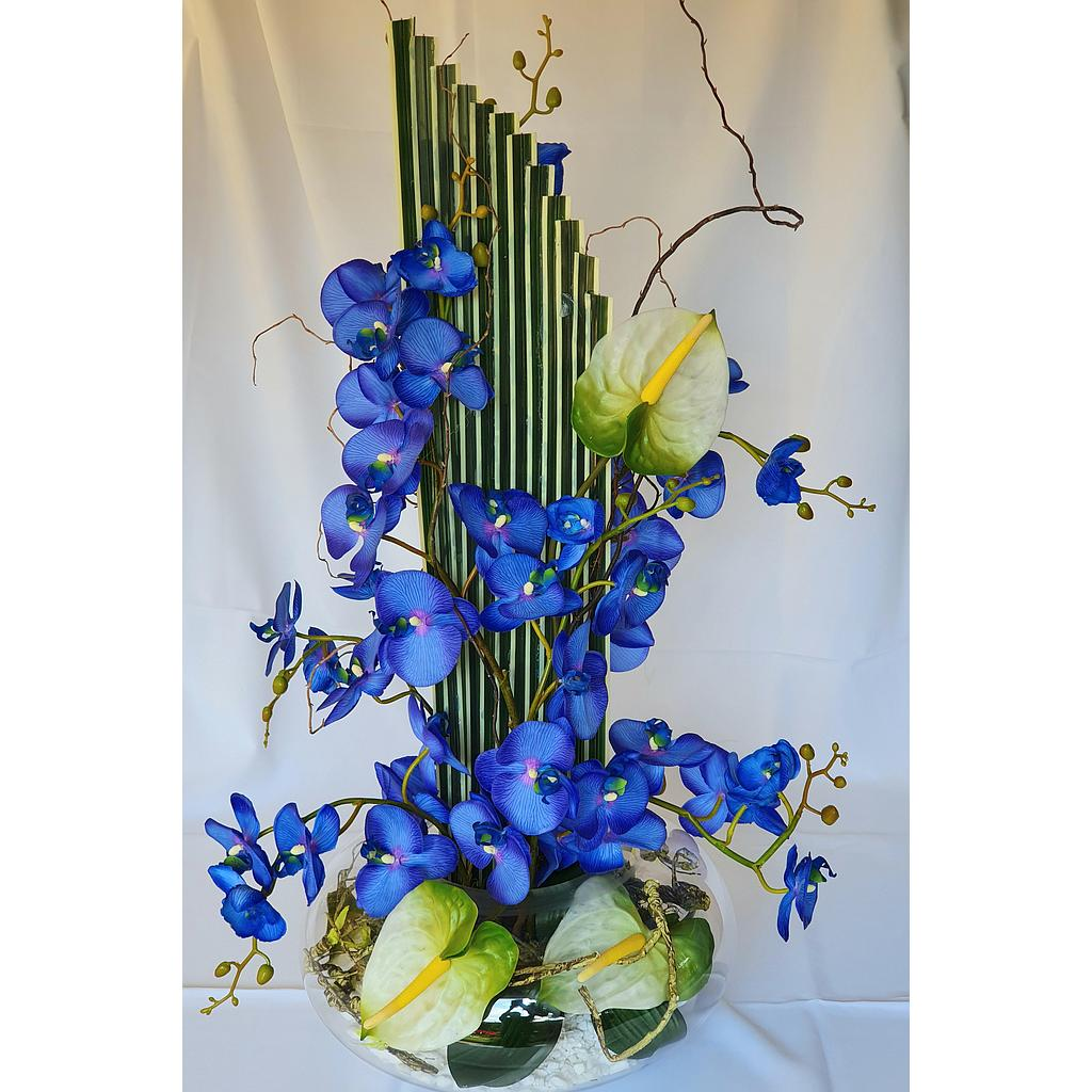 Blue Orchid Arrangement